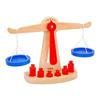 Деревянные обучающие весы Viga Toys с гирями (50660)