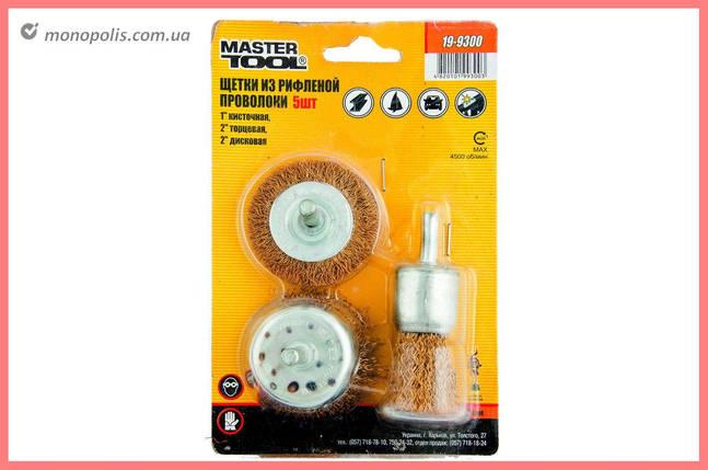 Набір щіток Mastertool - з рифленого дроту 3 шт., фото 2