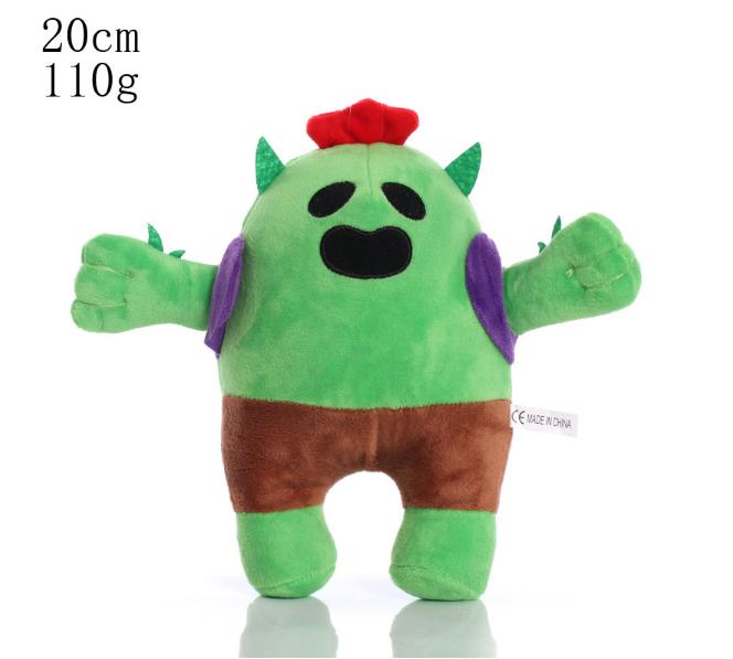 Плюшевая игрушка Спайк из игры Бравл Старс Brawl Stars 20 см.