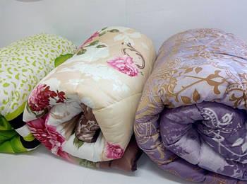 Одеяло двуспальное с узором и наполнителем шерстепон
