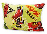 Одеяло полуторное с тачками и наполнителем искусственный лебяжий пух + 1 подушка 50х70 см, фото 3