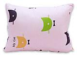 Одеяло полуторное с котиками и наполнителем искусственный лебяжий пух + 1 подушка 40х60 см, фото 3