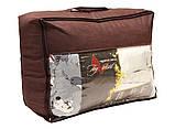Одеяло полуторное сиреневого цвета с сердечками и наполнителем искусственный лебяжий пух, фото 2