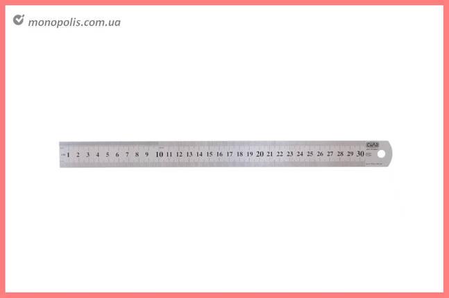 Лінійка Сила - 300 мм нержавіюча сталь, фото 2