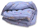Одеяло полуторный с мишками и наполнителем искусственный лебяжий пух + 1 подушка 40х60 см, фото 2