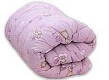 Одеяло полуторное с мишками и наполнителем искусственный лебяжий пух + 1 подушка 40х60 см, фото 2