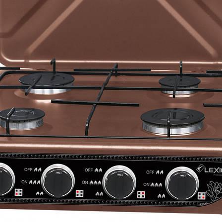 Газовая плита таганок LEXICAL LGS-2814-5 настольная на 4 конфорки, фото 2