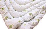 Одеяло двуспальное белого цвета с узором и наполнителем экопух, фото 2