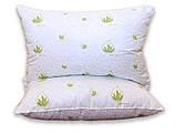 Одеяло двуспальное с узором и наполнителем искусственный лебяжий пух + 2 подушки 50х70 см, фото 4