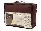 Одеяло двуспальное с узором и наполнителем искусственный лебяжий пух + 2 подушки 50х70 см, фото 5