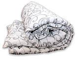 Ковдра євро з візерунком і наповнювачем штучний лебединий пух + 2 подушки 50х70 см, фото 2