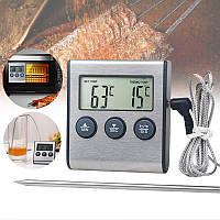 Цифровий термометр кулінарний для духовки (печі) KCASA TP-700 (-50C до +300C) з таймером та магнітом