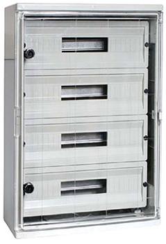 Корпус ударопрочный из АБС-пластика 400х500х175мм, IP65 с прозрачной дверью и панелью под 54 модуля