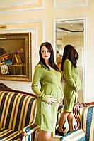 Платье  теплое для будущих мам с длинным рукавом