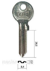 Заготівля ключа KAE-8D
