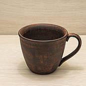 Чашка чайная из красной глины 0,3 л гладкая
