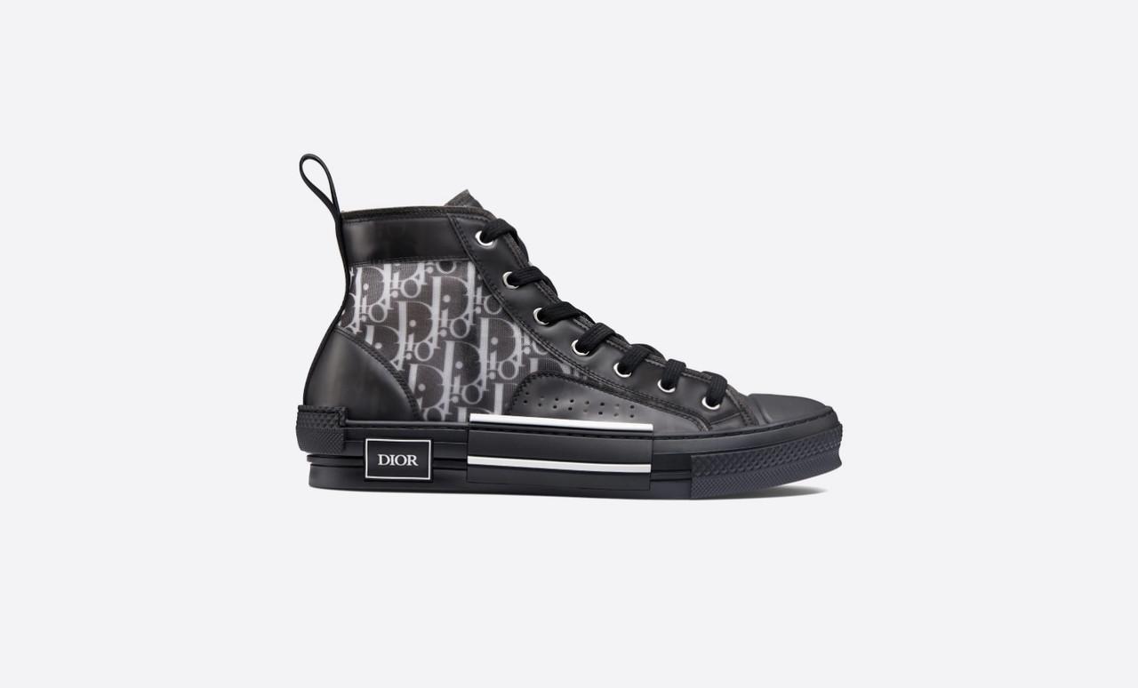 "Кеды Dior B23 Sneakers High Top ""Черные"""