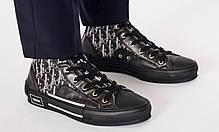 """Кеды Dior B23 Sneakers High Top """"Черные"""", фото 3"""