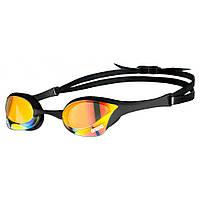 Окуляри для плавання ARENA COBRA ULTRA SWIPE MIRROR YELLOW COPPER-BLACK