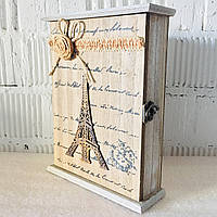 """Ключниця дерев'яна """"Ейфелева вежа"""" (26*20*7 див.), фото 1"""