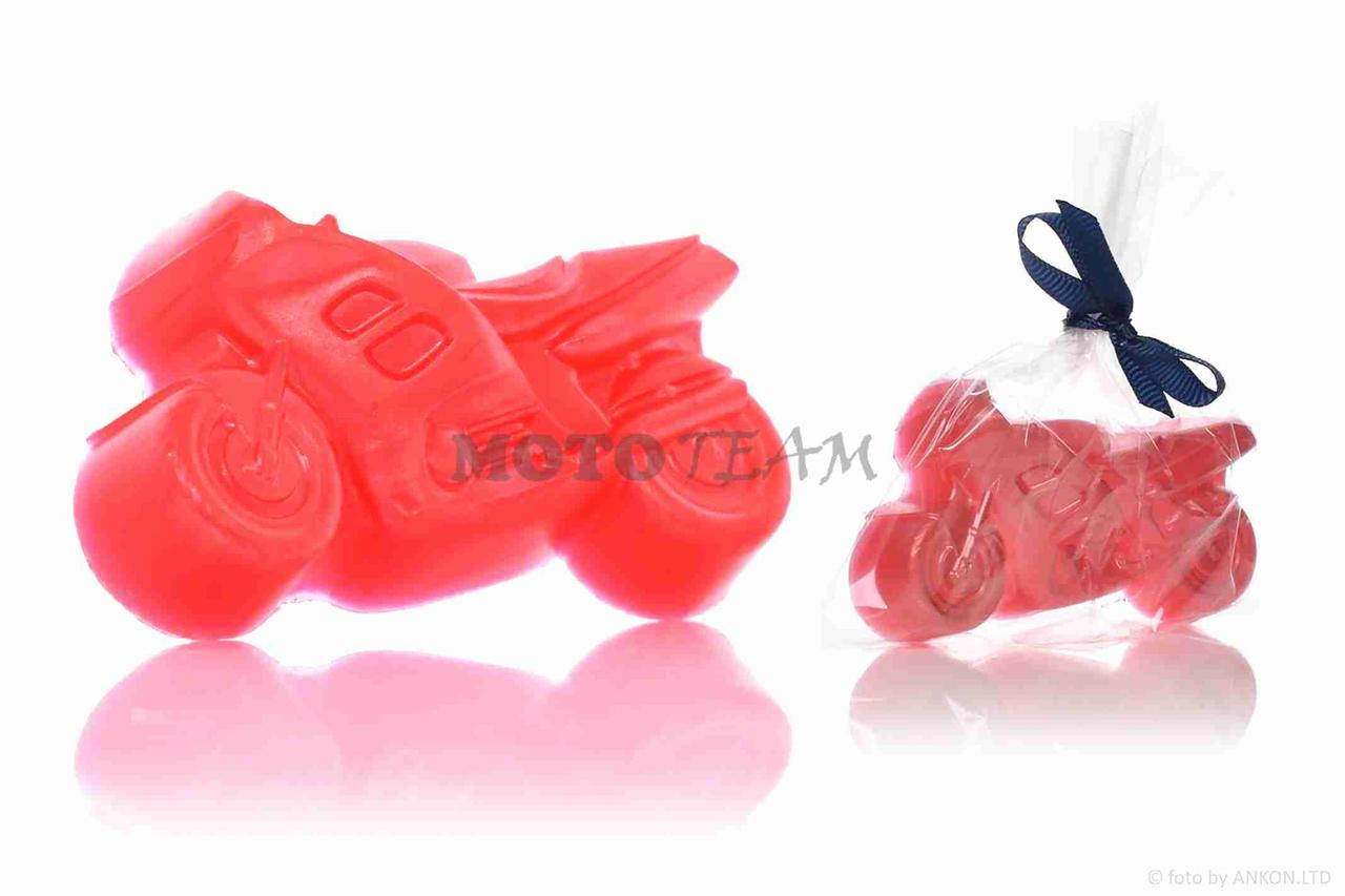Мыло подарочное, ручной работы  МОТО  50г,  красное