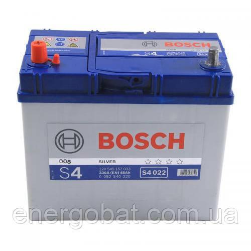 Аккумулятор автомобильный Bosch S4 022 45Ah 330A 0092S40220 -  Компания авто запчастей аккумуляторов и тюнинга ENERGOBAT в Киеве