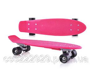 Скейт детский DOLONI 0151/3 малиновый