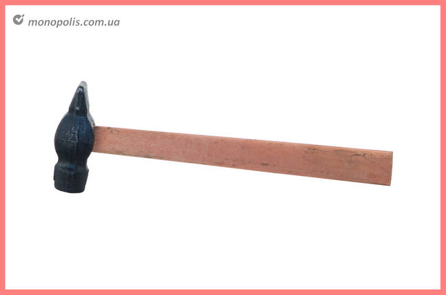Молоток ТМЗ - 500 г, круглый бойок, ручка дерево, фото 2