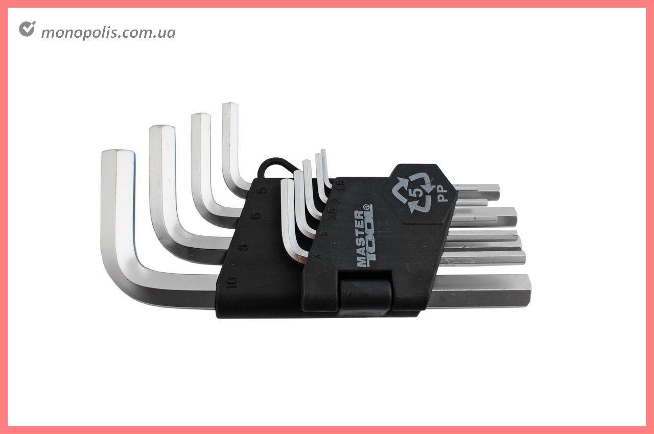 Набор шестигранных ключей Mastertool - 9 шт.
