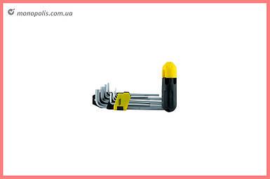Набор шестигранных ключей Mastertool - 9 шт. с держателем удлиненные