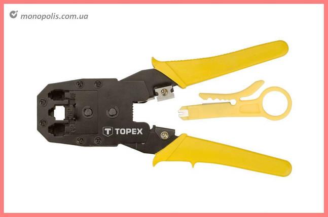 Клещи для опрессовки штекеров Topex - 185 мм RJ11 (4P), RJ12 (6P), RJ45 (8P), фото 2