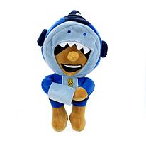 Плюшевая игрушка Леон Акула из игры Бравл Старс Brawl Stars 24 см.