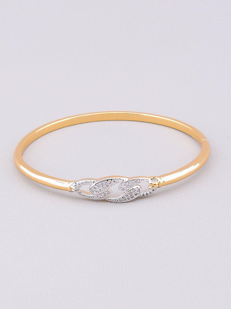 Браслет медицинское золото Xuping Jewelry  украшено изделие фианитами  18 см  покрытие изделия позолота и