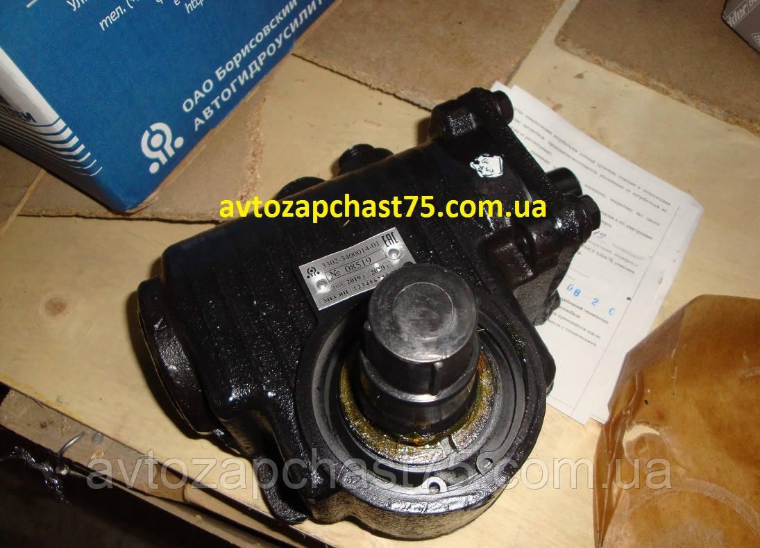 Механизм рулевой Газ 3302, газель без ГУР (корпус чугунный) произ-во  Автогидроусилитель, Беларусь