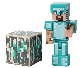 Фигурка Майнкрафт Алмазный Стив, с аксессуарами, 6 см - Diamond Steve Minecraft