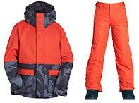 Зимовий роздільний мембранний термокомбінезон, гірськолижний костюм Billabong для хлопчика 164,170,176 см червоний, фото 1