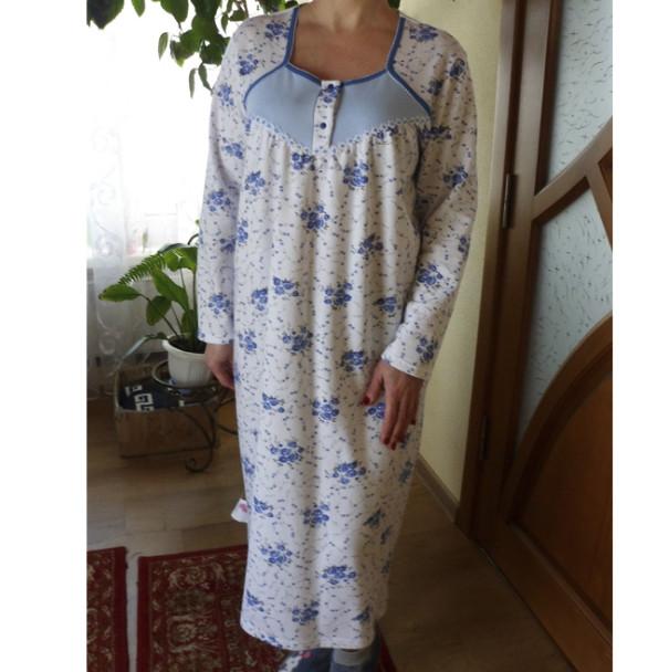 Ночная рубашка женская теплая трикотаж футер Оля р120 20036942