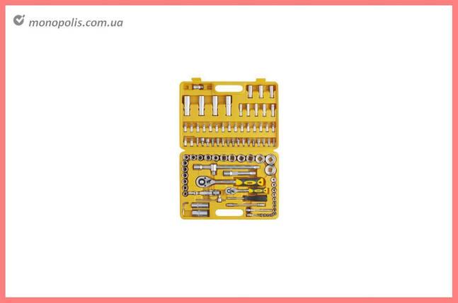"""Набір інструменту Сила - 94 од. x 1/4"""", 1/2"""", жовтий, фото 2"""