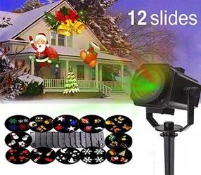 Уличный Лазерный Проектор Garden Projector Card change с пультом управления и 12 слайдами