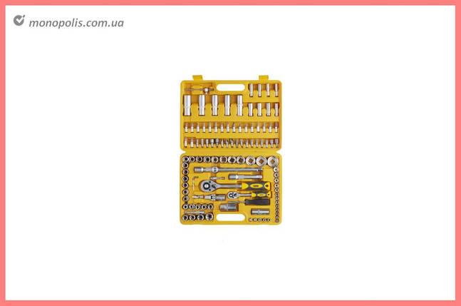 """Набор инструмента Сила - 108 ед. x 1/4"""", 1/2"""", желтый, фото 2"""