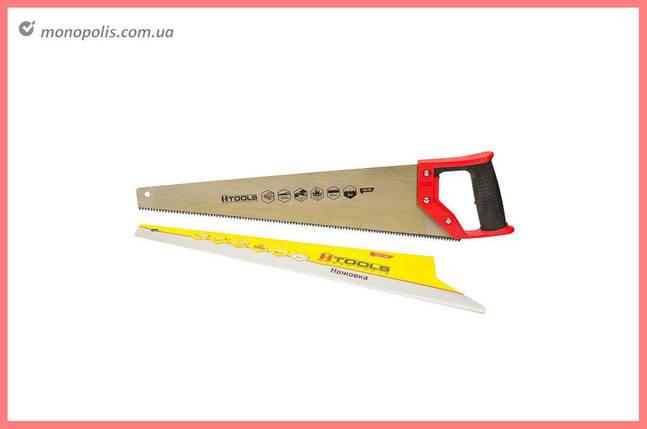 """Ножовка по дереву Housetools - 450 мм, тройная заточка 7T х 1"""", фото 2"""