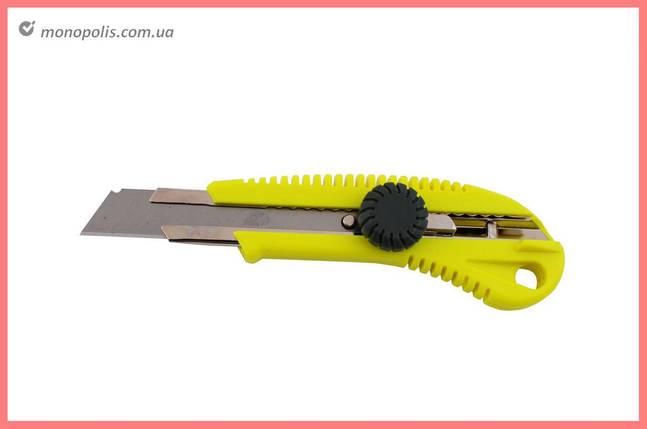 Ніж Housetools - 18 мм, гвинтовий жовтий, фото 2