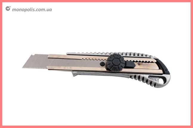 Ніж Housetools - 18 мм, гвинтовий металевий, фото 2
