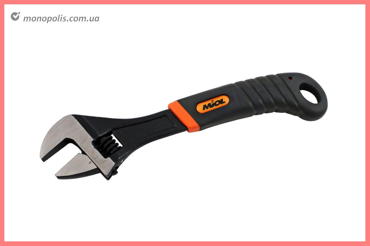 Ключ разводной Miol - 200 мм (0-24 мм), оранжевая ручка