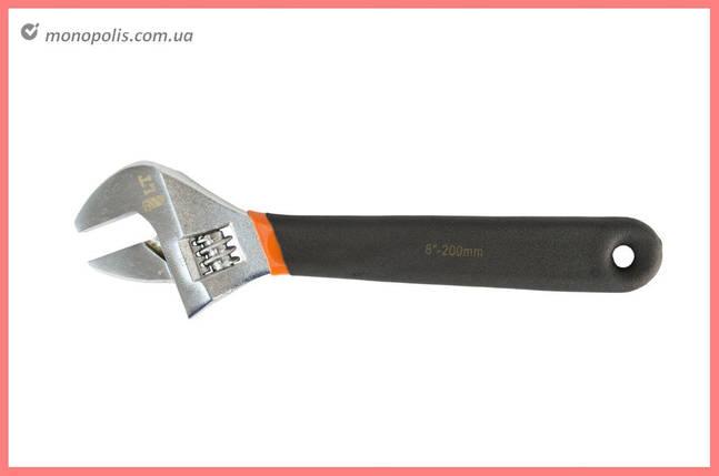 Ключ разводной LT - 250 мм (0-29 мм) прорезиненный, фото 2