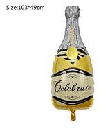 """Куля великий """"Золотиста пляшка шампанського"""" від студії LadyStyle.Biz"""
