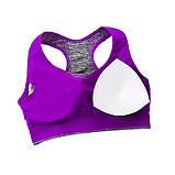 Спортивний жіночий костюм для фітнесу бігу йоги. Спортивні жіночі легінси топ для фітнесу (сірий з рожевим) M, фото 6
