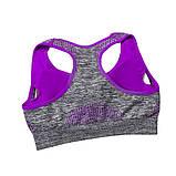 Спортивний жіночий костюм для фітнесу бігу йоги. Спортивні жіночі легінси топ для фітнесу (сірий з рожевим) M, фото 8