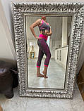 Спортивний жіночий костюм для фітнесу бігу йоги. Спортивні жіночі легінси топ для фітнесу (сірий з рожевим) M, фото 9