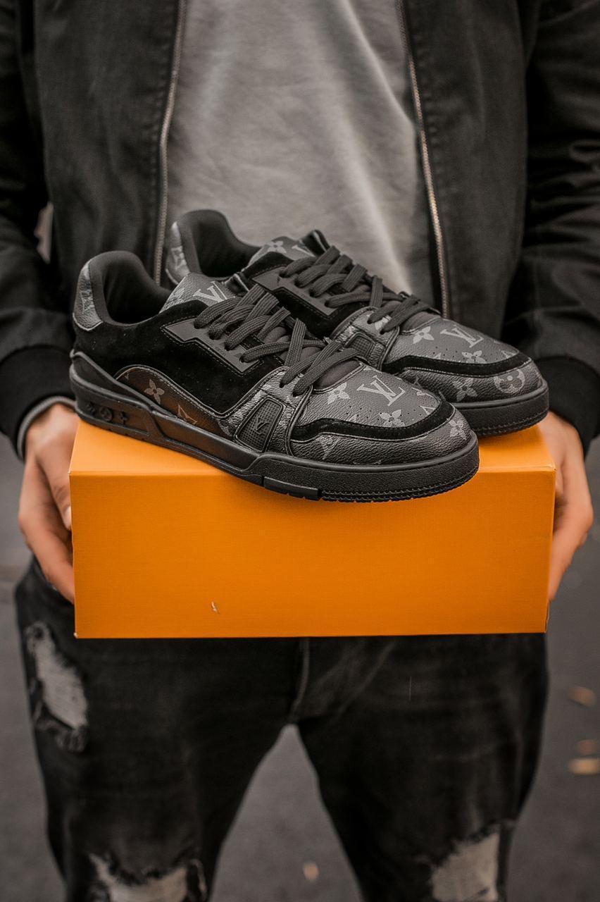 Мужские кроссовки Louis Vuitton Men's Sneakers Black / Луи Витон Черные